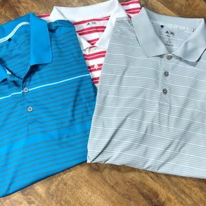 Lot of 3 Men's Adidas Polos Size 2XL